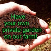 Have your own private garden on our farm!